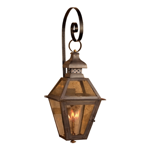 Elk Lighting Outdoor Wall Light with Clear Glass in Washed Pewter Finish 7919-WP
