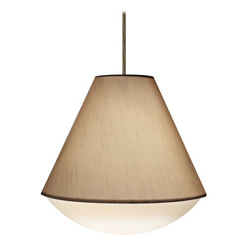 Besa Lighting Besa Lighting Reflex Bronze LED Pendant Light with Empire Shade 1JT-RFLXCO-LED-BR