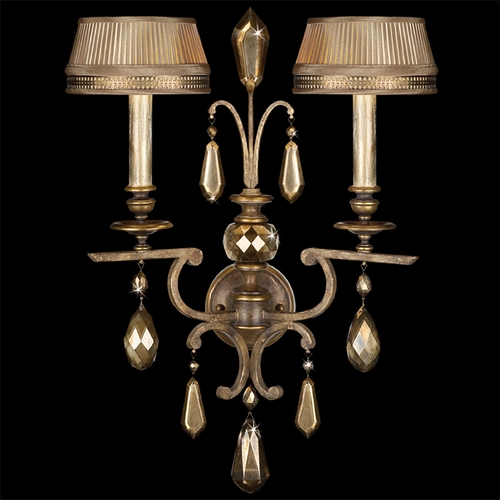 Fine Art Lamps Fine Art Lamps Golden Aura Aged Gold Patina Sconce 754550ST