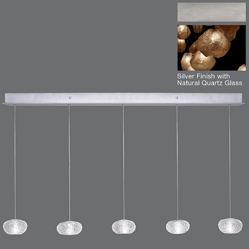 Fine Art Lamps Fine Art Lamps Natural Inspirations Silver Leaf Multi-Light Pendant 863340-14ST