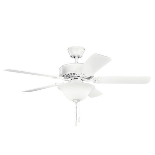 Kichler Lighting Kichler Lighting Renew Select Matte White Ceiling Fan with Light 330110MWH