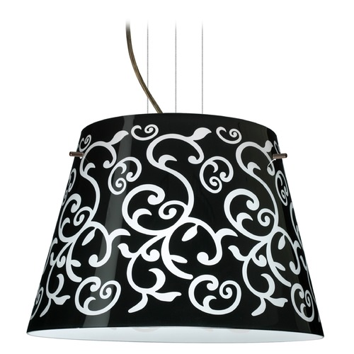 Besa Lighting Besa Lighting Amelia Black Glass Bronze LED Pendant Light 1KV-4394BD-LED-BR