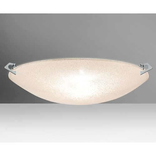 Besa Lighting Besa Lighting Sonya Polished Nickel LED Flushmount Light 8419GL-LED-PN