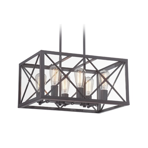 Designers Fountain Lighting Designers Fountain High Line Satin Bronze Pendant Light 87386-SB