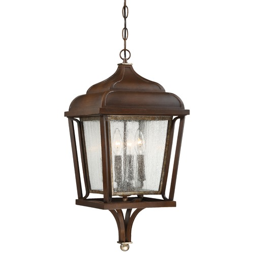 Minka Lavery Minka Astrapia Dark Rubbed Sienna with Aged Silver Outdoor Hanging Light 72544-593