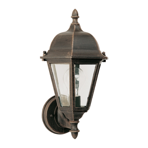 Maxim Lighting Outdoor Wall Light with Clear Glass in Rust Patina Finish 1002RP