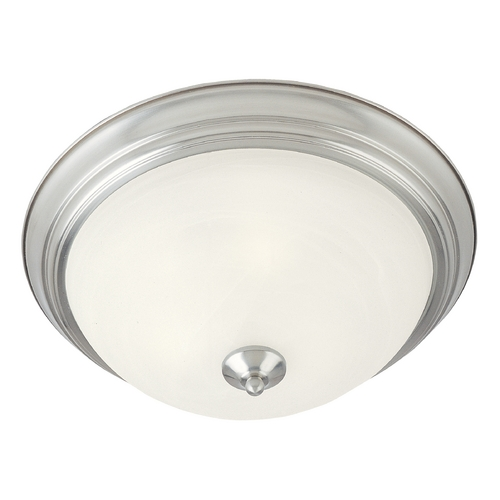Maxim Lighting Maxim Lighting Essentials Satin Nickel Flushmount Light 5840MRSN