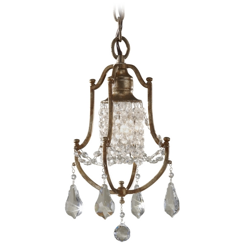 Feiss Lighting Mini-Pendant Light in Oxidized Bronze Finish F2624/1OBZ