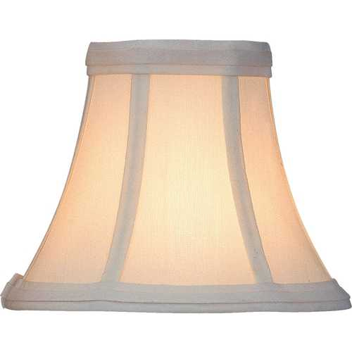Lite Source Lighting White Bell Lamp Shade with Clip-On Assembly CH508-6