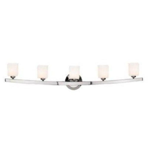 Access Lighting Modern Bathroom Light with White Glass in Matte Chrome Finish 63815-20-MC/OPL