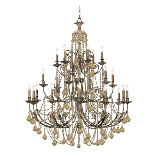 Crystorama Lighting Crystal Chandelier in English Bronze Finish 5120-EB-GTS