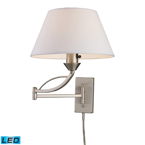 Elk Lighting Elk Lighting Elysburg Satin Nickel LED Swing Arm Lamp 17016/1-LED