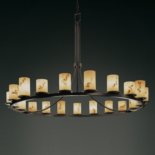 Justice Design Group Justice Design Group Lumenaria Collection Chandelier FAL-8716-10-DBRZ