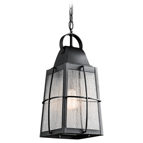 Kichler Lighting Kichler Lighting Tolerand Textured Black Outdoor Hanging Light 49556BKT