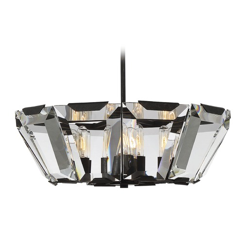 Savoy House Savoy House Lighting Sardis Oiled Bronze Pendant Light with Drum Shade 7-901-10-02