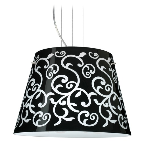 Besa Lighting Besa Lighting Amelia Satin Nickel LED Pendant Light with Empire Shade 1KV-4394BD-LED-SN
