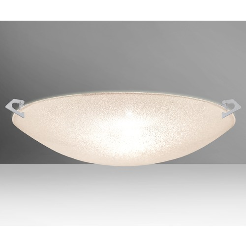 Besa Lighting Besa Lighting Sonya Satin Nickel LED Flushmount Light 8419GL-LED-SN