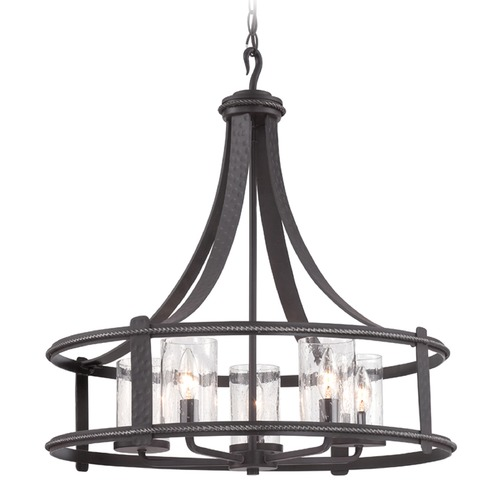 Designers Fountain Lighting Seeded Glass Chandelier Black Designers Fountain Lighting 87585-APW