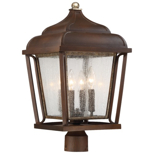 Minka Lavery Minka Astrapia Dark Rubbed Sienna with Aged Silver Post Light 72546-593