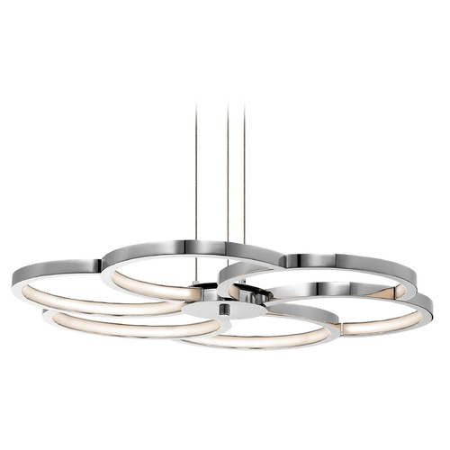 Elan Lighting Elan Lighting Kurli Chrome LED Pendant Light 83586