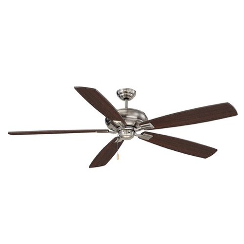 Savoy House Savoy House Lighting Wind Star Brushed Pewter Ceiling Fan Without Light 68-227-5CN-187
