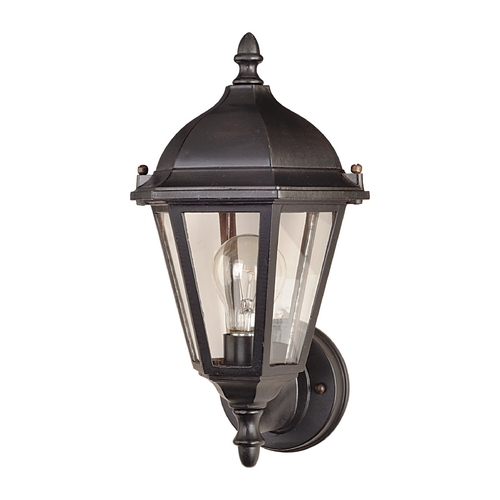 Maxim Lighting Outdoor Wall Light with Clear Glass in Empire Bronze Finish 1002EB