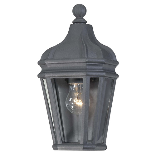 Minka Lavery Outdoor Wall Light with Clear Glass in Black Finish 8697-66