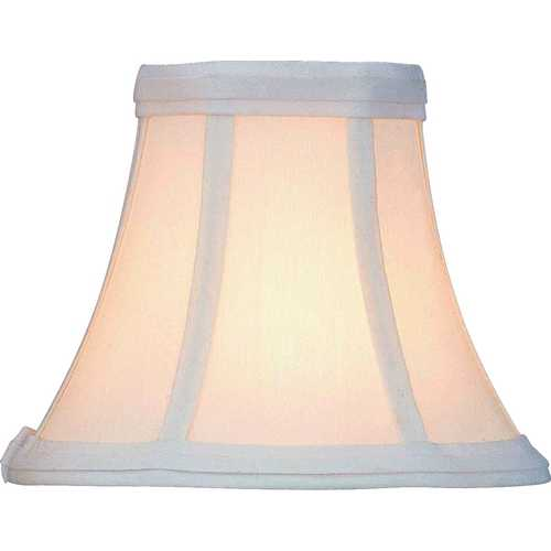 Lite Source Lighting White Bell Lamp Shade with Clip-On Assembly CH508-7