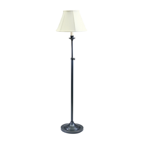 House of Troy Lighting Floor Lamp with White Shade in Oil Rubbed Bronze Finish CL201-OB
