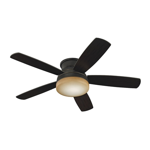 Monte Carlo Fans Modern Ceiling Fan with Light with Amber Glass in Roman Bronze / Graduated Amber Finish 5TV52RBD