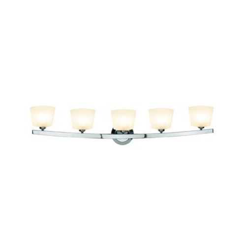 Access Lighting Modern Bathroom Light with White Glass in Chrome Finish 63815-20-CH/OPL