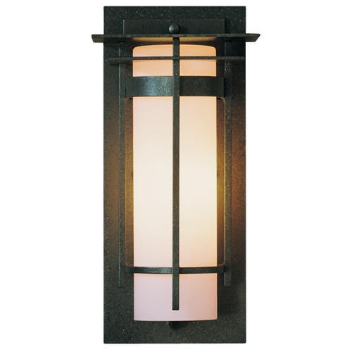 Hubbardton Forge Lighting Outdoor Wall Light in Iron Finish - 12-1/2-Inches Tall 305992-20-G66