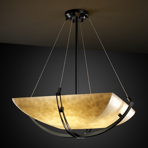 Justice Design Group Justice Design Group Clouds Collection Pendant Light CLD-9727-25-MBLK