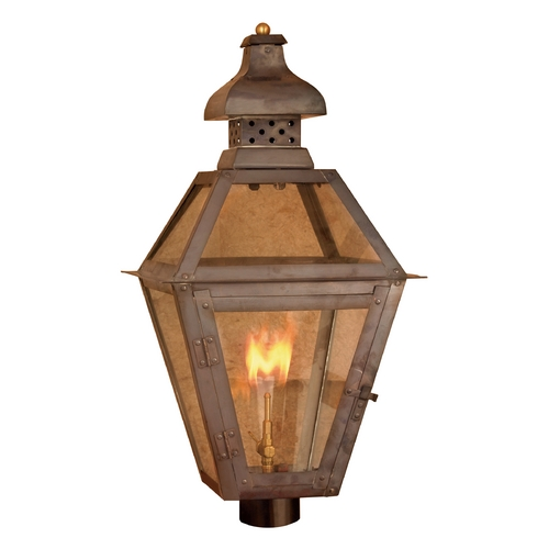Elk Lighting Post Light with Clear Glass in Washed Pewter Finish 7918-WP
