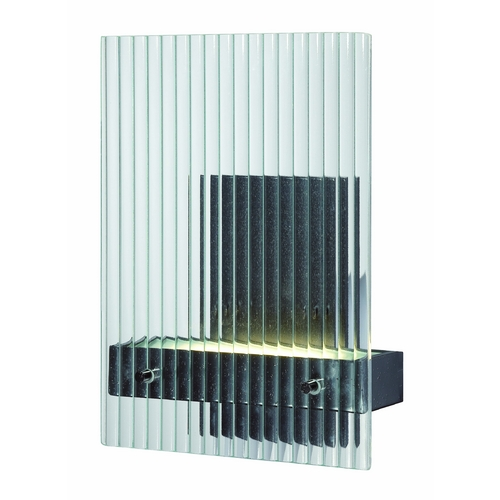 Nuvo Lighting Modern LED Sconce Wall Light with Clear Glass in Textured Black Finish 62/117