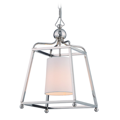 Crystorama Lighting Crystorama Lighting Sylvan Polished Nickel Pendant Light with Cylindrical Shade 2240-PN