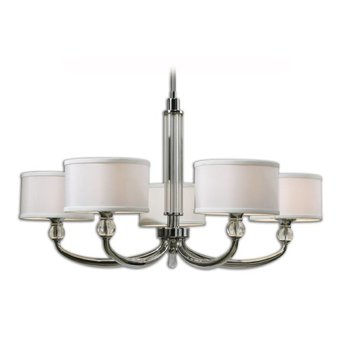 Uttermost Lighting Uttermost Vanalen 5 Light Chrome Chandelier 21260