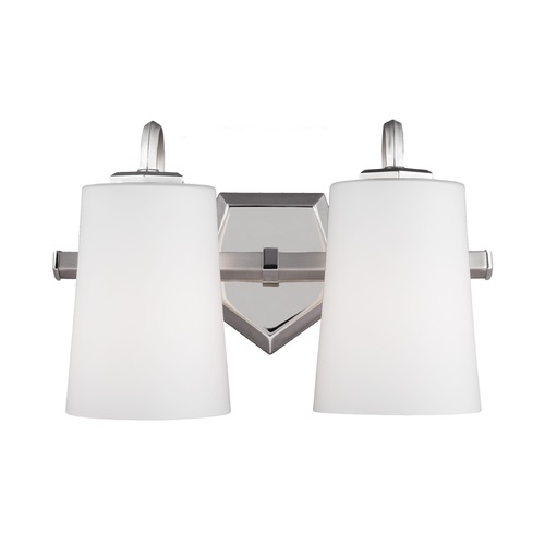 Feiss Lighting Feiss Lighting Pentagram Satin Nickel / Polished Nickel Bathroom Light VS20402SN/PN