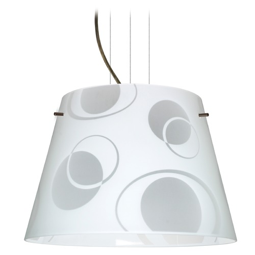 Besa Lighting Besa Lighting Amelia Bronze LED Pendant Light with Empire Shade 1KV-4394CS-LED-BR