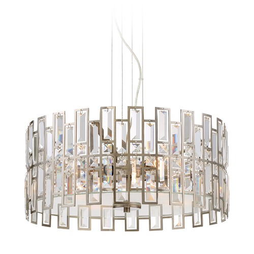 Designers Fountain Lighting Designers Fountain West 65th Satin Platinum Pendant Light 88231-SP