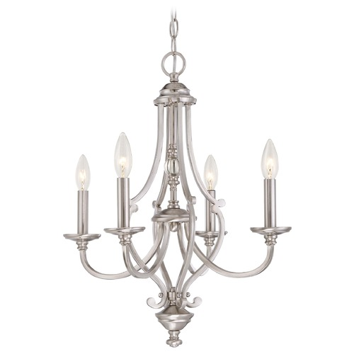 Minka Lavery Minka Savannah Row Brushed Nickel Chandelier 3334-84