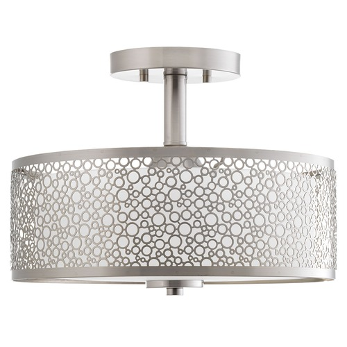 Progress Lighting Progress Lighting Mingle LED Brushed Nickel LED Semi-Flushmount Light P2320-0930K9