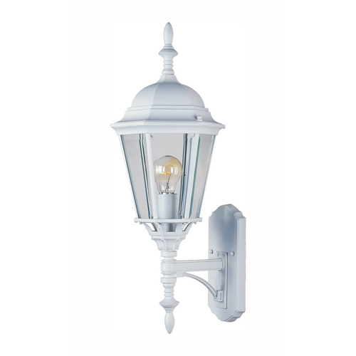Maxim Lighting Outdoor Wall Light with Clear Glass in White Finish 1003WT