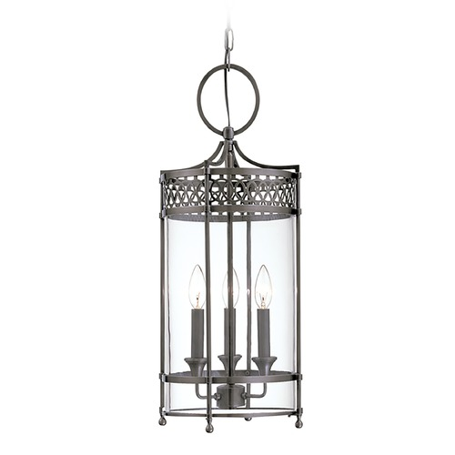 Hudson Valley Lighting Pendant Light with Clear Glass in Antique Nickel Finish 8993-AN