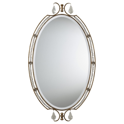 Feiss Lighting Valentina Oval 20-Inch Mirror MR1106OBZ