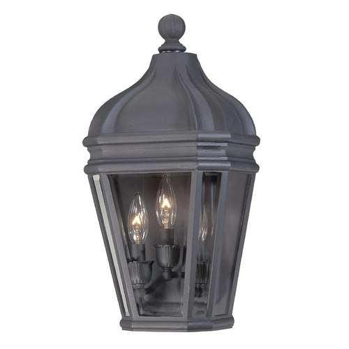 Minka Lavery Outdoor Wall Light with Clear Glass in Black Finish 8698-66
