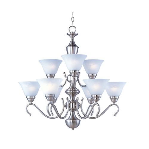 Maxim Lighting Maxim Lighting Newport Satin Nickel Chandelier 12065MRSN