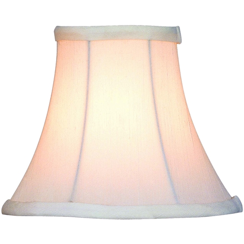 Lite Source Lighting White Bell Lamp Shade with Clip-On Assembly CH526-6