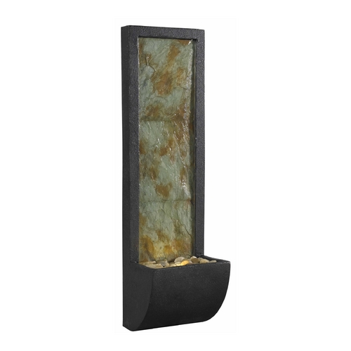 Kenroy Home Lighting Modern LED Indoor Fountain in Natural Slate with Oil Rubbed Bronze Finish 50200SL