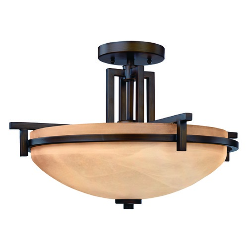 Dolan Designs Lighting Mission Inspired Three-Light Ceiling Light 2815-133